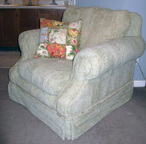 Reupholstering Thrift Store Chair – Master Bedroom Project-Week 1