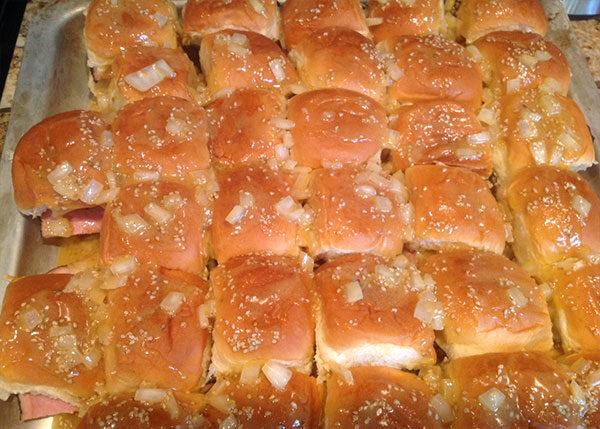 Ham and Swiss Cheese Hawaiian Roll Sliders